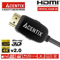ULTRA HDMI CABLE v2.0 HD FAST 4K 3D LEAD 0.5M/1M/1.5M/2M/3M/5M/10M/15M/20M/30M