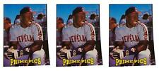 (3) 1993 Sports Card Review Prime Pics #1 Albert Belle Baseball Card Lot Indians