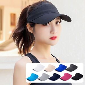 Sun Visor Hat Adjustable Sports Tennis Golf Cap Headband Unisex Outdoor Sun Cap