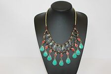 Afghan Handmade Multi Colour Necklace Stones Authentic Statement Tribal Layers