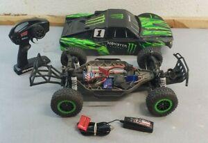 Monster Energy Traxxas Slash 4X4 RC Radio Controlled Car