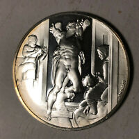 The Death of Haman The Genius of Michelangelo 1.26oz Sterling Silver Proof Medal