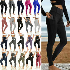 New listing Women High Waisted Yoga Pants With Pockets Fitness Butt Leggings Sports Trousers