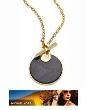Michael Kors Black Agate Quartz Pave Crystal Necklace MKJ4607710 Mkj4607