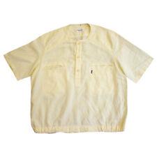 Yves Saint Laurent Short Sleeve Grandad Collar Shirt   Vintage Luxury Designer