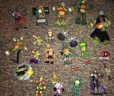 TMNT Teenage Mutant Ninja Turtles Figures Lot Of 18 Raph Donnie Leo Mikey T48