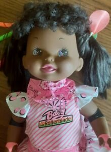 African American Baby Rollerblade Doll by Mattel~1980