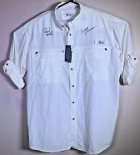 WWSports AUTOGRAPHED Roland Martin George Poveromo Vented Angler Shirt 2XL NWT