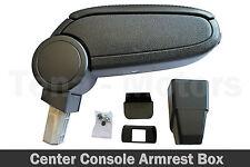 Console Centrale Box Accoudoir pour Peugeot 206+ 206CC 09+ Noir eco En Cuir