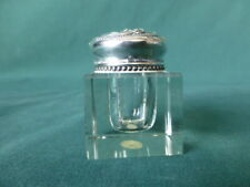Antique Foster & Bailey Sterling Silver and Glass Ink Well 1150