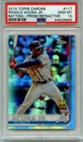 2019 TOPPS CHROME RONALD ACUNA JR ROOKIE CUP PRISM REFRACTOR#117 PSA 10 GEM MINT
