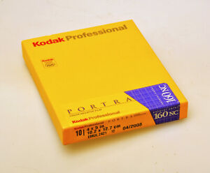 Unopened Box of 10 sheets 5x4in. Kodak Portra 160NC outdated Colour Negative Fil