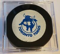 1974-75 WHA TORONTO TOROS VINTAGE HOCKEY OFFICIAL  GAME PUCK  OLD SLUG  CANADA