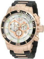 Invicta 10620 Men's Corduba Chronograph Black Poly 18k Rose Gold Plated Watch