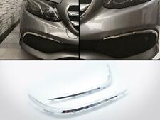 Chrome Front Bumper Canards Vent Flaps Trims For Mercedes Benz E W213 AMG Sport