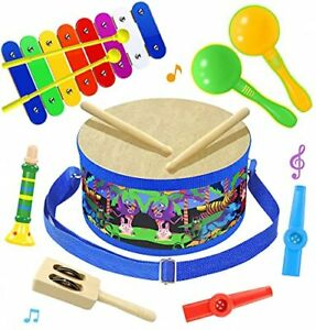 Smarkids Musical Instruments Music Toys Wood Toddler Kids Drum Set