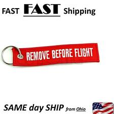Remove Before Flight Key Chain Luggage Tag Pull Woven Embroidery Keychain