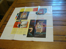"Vintage 1950 Printing Sample Poster: MITCHELL TV, 25 X 26"", #3029"