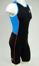 Pearl Izumi Men's ELITE Pursuit Tri Suit, Black/Bel Air Blue, Large