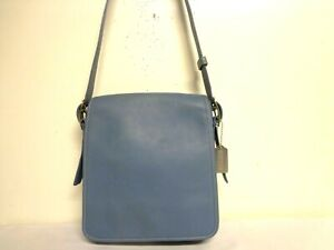 COACH BAG LEGACY 9335 BLUE FLAP MESSENGER CROSSBODY SHOULDER HANDBAG PURSE