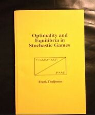 Rare ~ Optimality And Equilibria In Stochastic Games ~ Frank Thuijsman, 1989