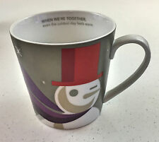STARBUCKS 2011 Christmas Snowman Coffee Mug When We're Together Purple gray