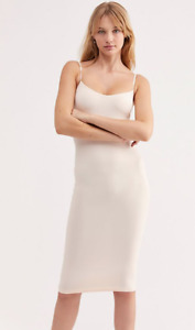 NEW Free People Intimately Tea Length Seamless Slip Dress Blush XS/S-M/L 45