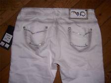 WOMENS VO VIRGIN ONLY WHITE EMBROIDERED RHINESTONES JEANS WAIST 27 LENGTH 33 NWT