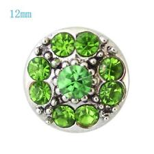 SMALL SNAP * GREEN STONE Snap 12mm Interchangeable Jewelry Fits Ginger Snaps