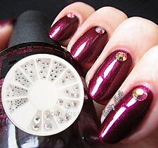 90Pcs/Box Nail Art Crystal Rhinestone Acrylic UV Gel Decoration Wheel 9 Sizes