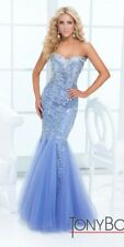 Tony Bowls Prom Dress 114749 Periwinkle Size 10 NWT