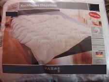155x220 cm Bettdecke, Kochfestes Steppbett TROCKNERGEEIGNET in WEISS. Microfaser