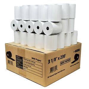 "3-1/8"" x 230' THERMAL POS RECEIPT PRINTER 50 ROLLS PAPER BPA FREE USA ROLL 55GSM"
