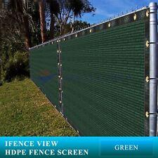 Ifenceview 3'x1'-3'x100' Green Fence Privacy Screen Mesh Fabric Garden Balcony
