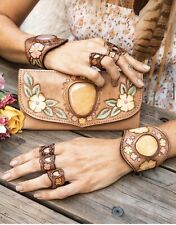 Buffalo Girl Byron Bay Handmade Leather Orange Calcite 🌸 Spell And The Gypsy