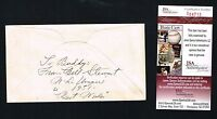 Bill Stewart (d 1964) signed autograph back of envelope Black Hawk Coach JSA