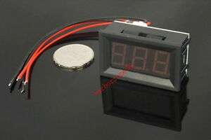 Red Green Blue 0.56''LED 0-100A DC Digital Panel Ammeter AMP Ampere Meter