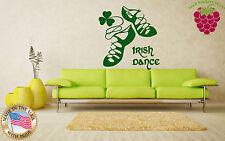 Vinyl Wall Decal Ireland Irish Dance Boston Cetls Ghillies Stickers (ig253)