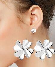 Markenlose Durchzieher Mode-Ohrschmuck ohne Stein und Sterlingsilber
