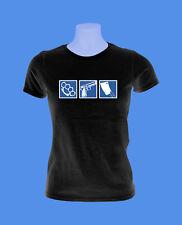 Girlie Damen Shirt Crime Hool Fight Gang Waffen move2be schwarz S M L