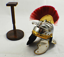 Stunning Roman Centurion Helmet & Display Stand Armour/Medieval/Greek/Gladiator