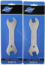 Park Tool Bicycle Double Ended Cone Wrench Set (13,15,17,18mm)  DCW-3 + DCW-4