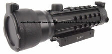 Airsoft Tactical 2x42mm Tri-Rail Red Green Dot Rifle Sight Scope side Rails