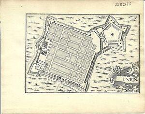 Antique map, Turin