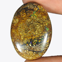 39.40Cts. 100% Natural Australian Koroit Boulder Opal Oval Cab Loose Gemstone