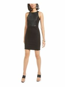 BAR III Womens Black Sleeveless Mini Body Con Cocktail Dress Size: XS