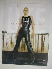 Ute Lemper 2 Sided Poster Promo