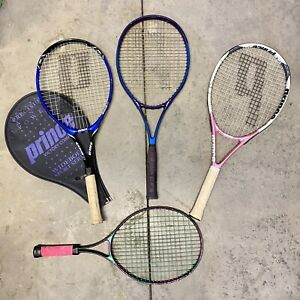 Prince Tennis Racket Lot Racquet Lot Of Four