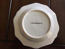 "I Godinger 5316A Salad Dessert Small Scallop Sky Blue 6 1/2"""
