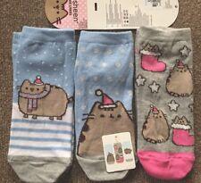 Pusheen Christmas 3 X Shoe Liners/ Socks Primark Women's Size 4-8 UK BNWT